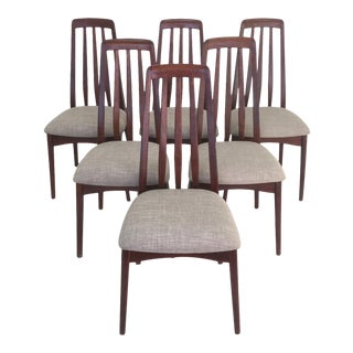 1970s Vintage Danish Modern Dining Chairs- Set of 6 For Sale
