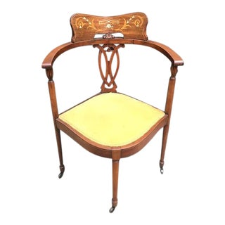 Early 20th Century Antique Corner Chair For Sale