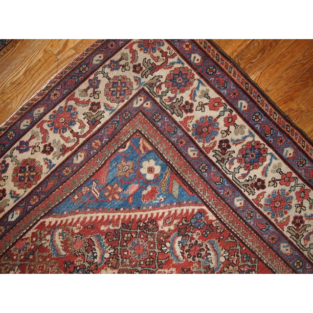 "Antique Persian Handmade Mahal Rug - 8'9"" X 11'7"" For Sale - Image 4 of 10"