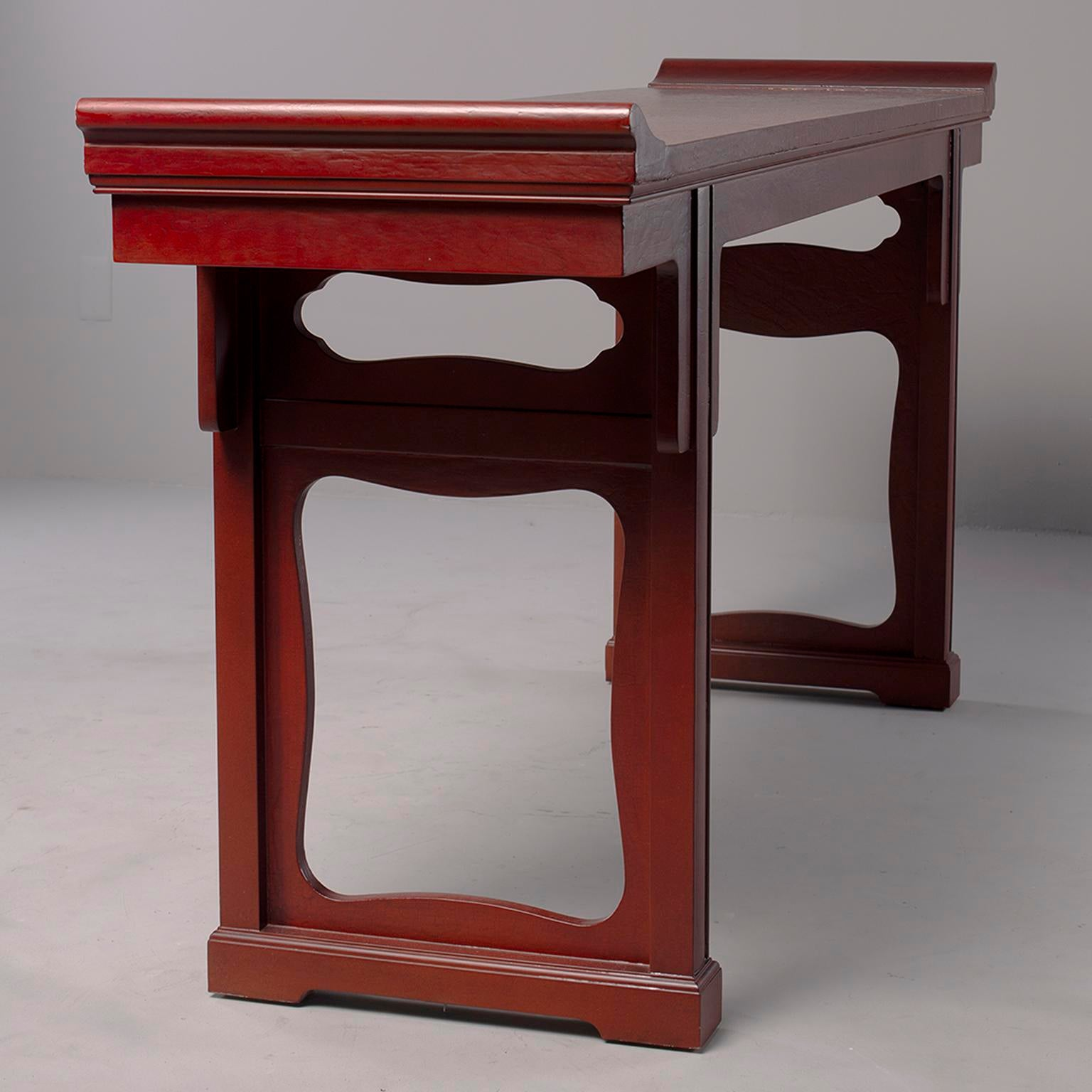 Superb Baker Furniture Red Chinese Style Altar Console Table For Sale In Detroit    Image 6 Of
