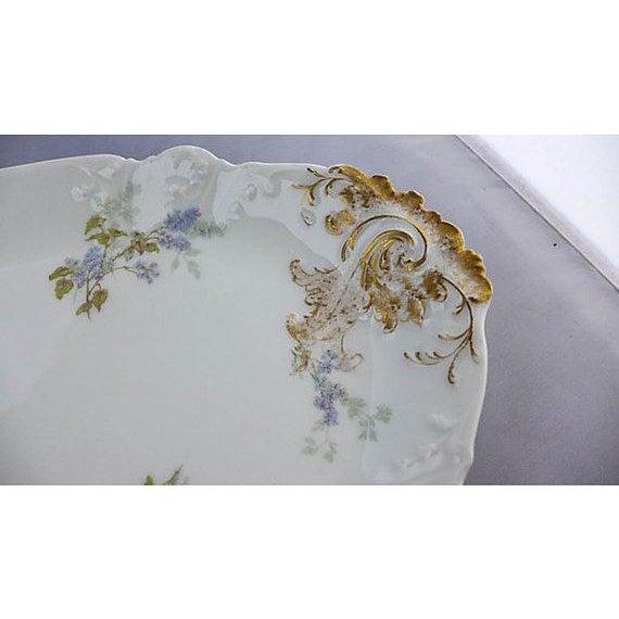 Farmhouse French Haviland Limoges Floral Platter For Sale - Image 3 of 7