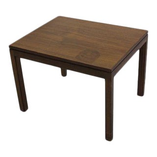 "Jens Risom Walnut Veneer Rectangular Side Table - 27"" For Sale"