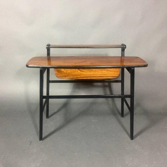 Pair of Italian 1970s Rosewood End Tables For Sale - Image 4 of 11