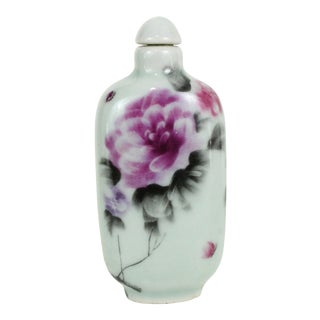 Porcelain Hand-Painted Bottle For Sale