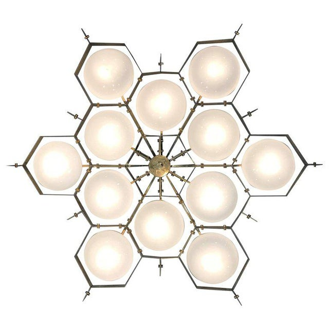 Mid-Century Modern Beehive Lucido White For Sale - Image 3 of 12