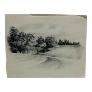"""Vintage """"Rolling Hills No. 13 Hole"""" Print by j.s. For Sale"""