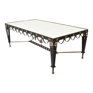 Mid Century French Modernist Star Dining Table After Gilbert Poillerat For Sale