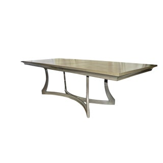 Contemporary Dan Parish Ltd. Louisa Light Gray Wood Dining Table