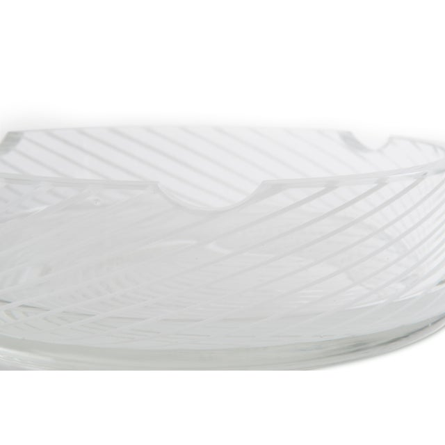Spiral White & Clear Murano Glass Dish For Sale - Image 4 of 6