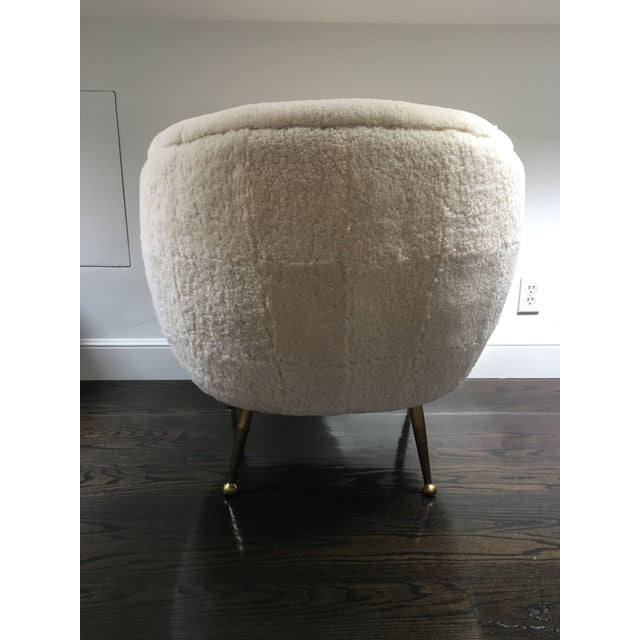 Mid-Century Modern Modern Scandinavian Authentic Shearling Chair For Sale - Image 3 of 6