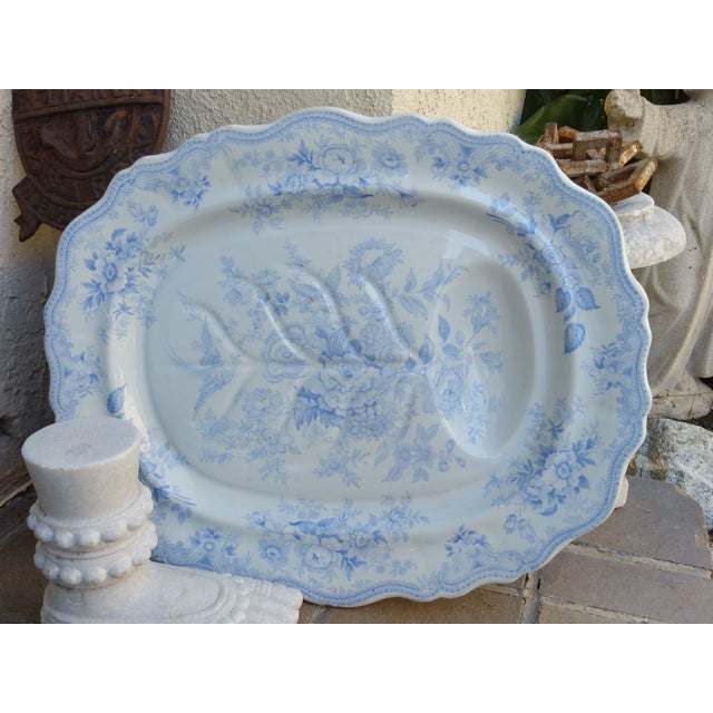 Wedgwood Antique Blue Turkey Carving Platter For Sale In Los Angeles - Image 6 of 6