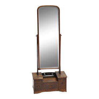 Early 20th Century Japanese Vanity Mirror With Drawers For Sale