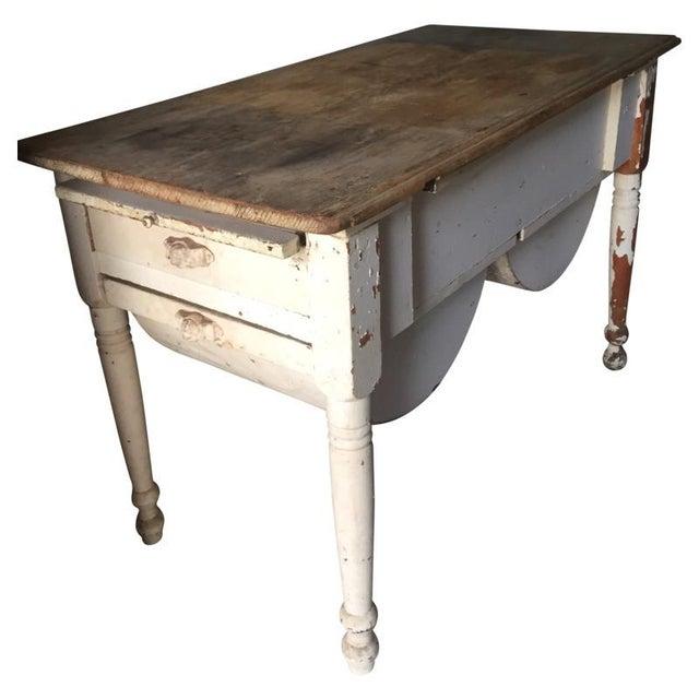 Oak Antique Baking Cabinet Wood Table For Sale - Image 7 of 7 - Antique Baking Cabinet Wood Table Chairish