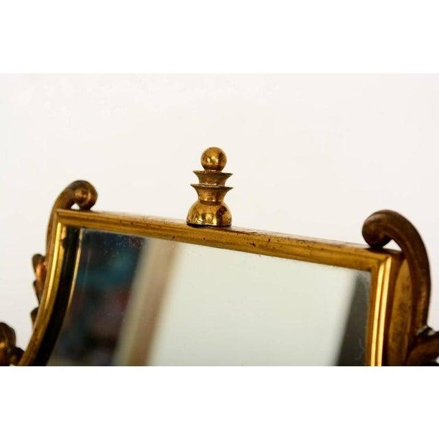 1940s Mid Century Modern Italian Brass Adjustable Vanity For Sale - Image 5 of 10