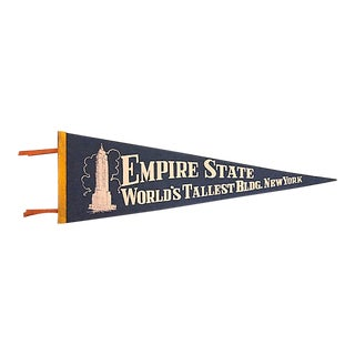 1950s Empire State Building Pennant For Sale