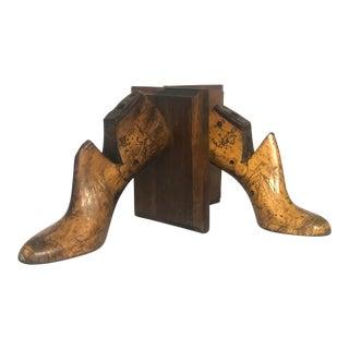 Vintage Wood Shoe Form Habersham Plantation Bookends - a Pair For Sale