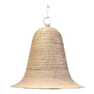 Currey and Company Seagrass Pendant Light For Sale