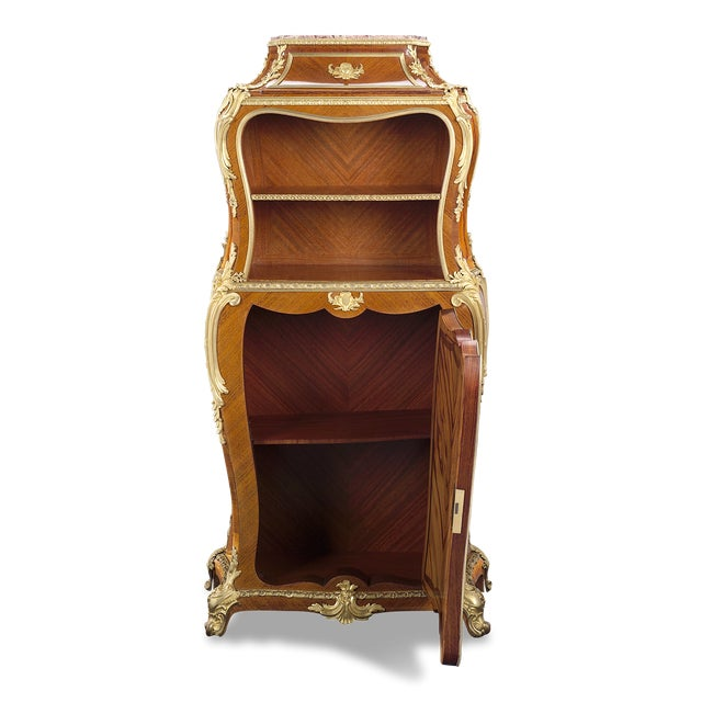 Superior craftsmanship and intricate marquetry characterize this rare secrétaire by Gervais-Maximilien-Eugène Durand, one...