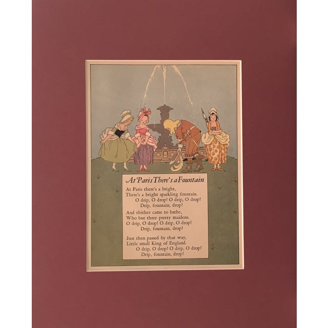 "A page from the 1927 children's book ""Nursery Friends from France"", illustrated by Maud & Miska Petersham. On the..."