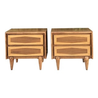 Pair of Mid Century Modern Nightstands by American of Martinsville