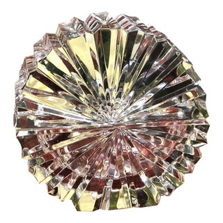 2 Piece Mikasa Lead Crystal Jewelry /Trinket Box Paperweight For Sale