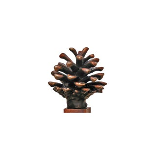Finial-L Lodgepole Cone, Traditional Patina For Sale