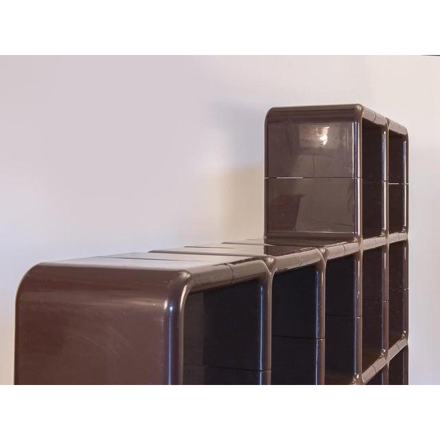 Abstract Kay Leroy Ruggles Brown Umbo Modular Shelf Unit for Directional For Sale - Image 3 of 10