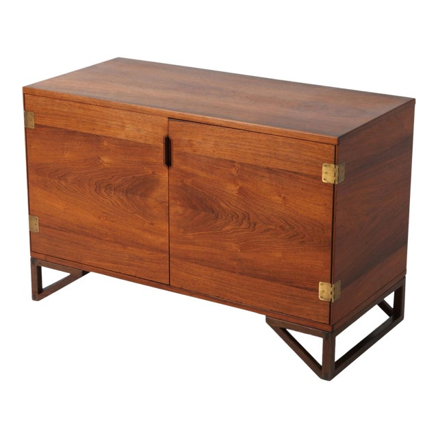 Scandinavian Modern Svend Langkilde Cabinet in Rosewood and Brass - 1950 For Sale