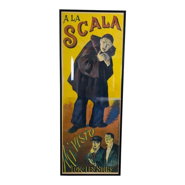 Antique French a La Scala Mévisto Framed Poster For Sale