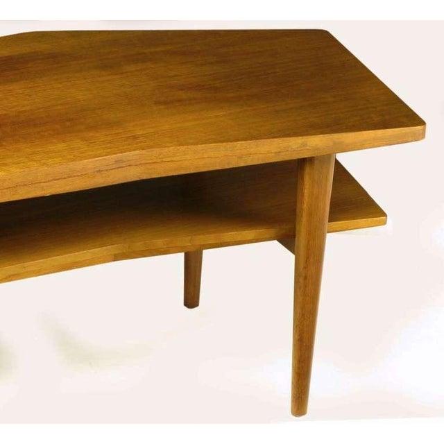 M.Singer & Sons Angled Italian Walnut Coffee Table - Image 9 of 9