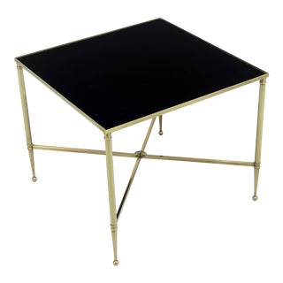 Maison Jansen Style Brass Cocktail Table For Sale