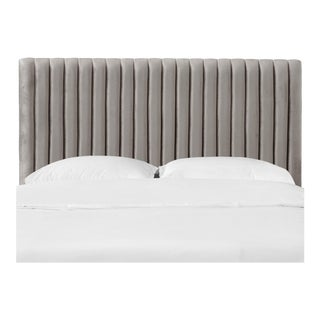 Twin Channel Headboard in Majestic Smoke For Sale