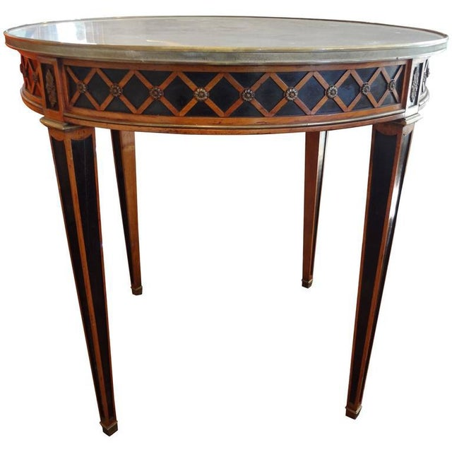 Gold 1940 French Louis XVI Style Maison Jansen Table For Sale - Image 8 of 8