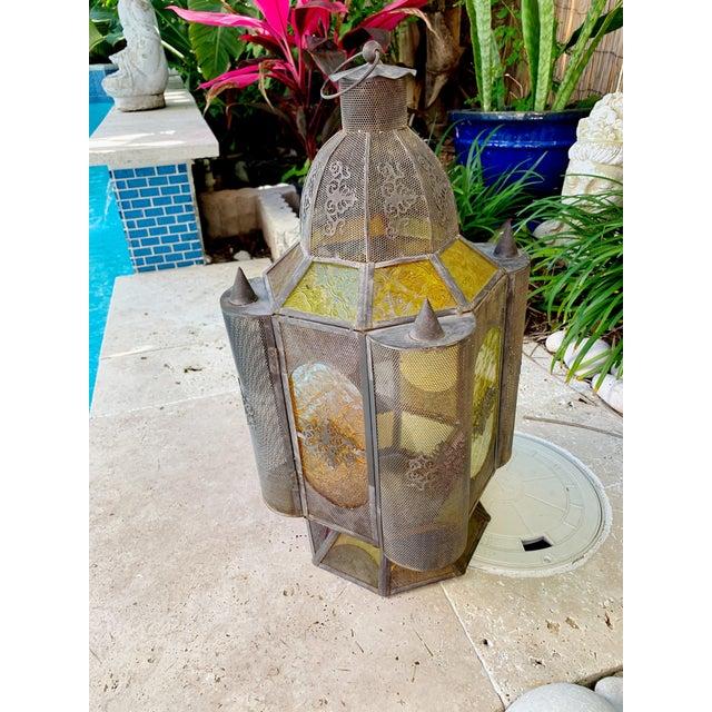 Boho Chic Vintage Moroccan Lantern Candle Holder For Sale - Image 3 of 12