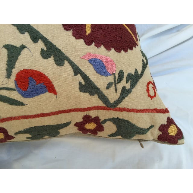 Antique Embroidered Suzani Pillow - Image 5 of 6