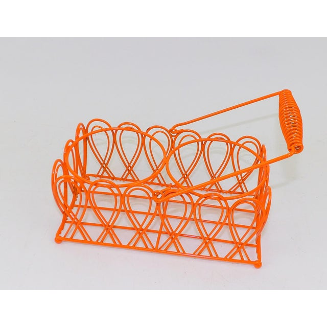Metal Vintage Orange Wine Bottle Rack For Sale - Image 7 of 8