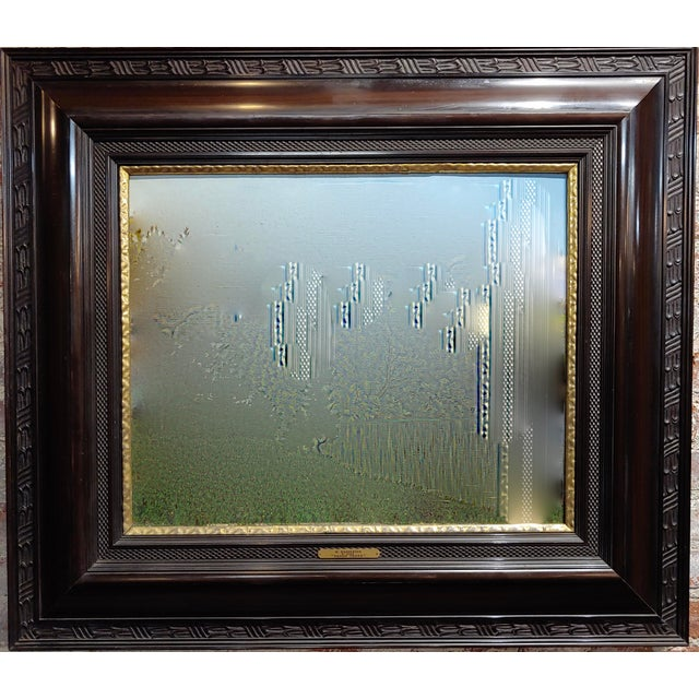 Gothic 19th Century Dutch Ebonized Wood Large Mirror or Painting Frame For Sale - Image 3 of 8