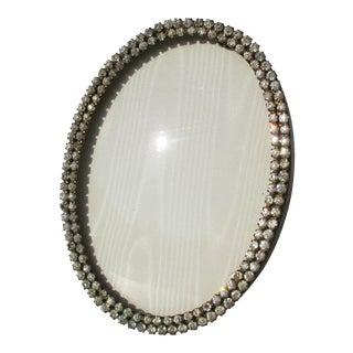 Jeweled Oval Vintage Photo Frame For Sale