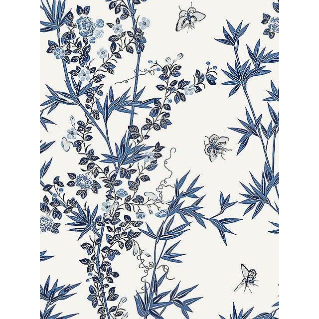Chinoiserie Sample, Scalamandre Jardin De Chine, Porcelain Wallpaper For Sale - Image 3 of 3