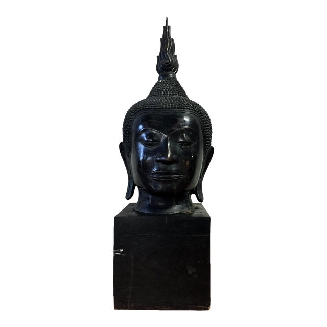 Extra Large Buddha Head Sculpture For Sale