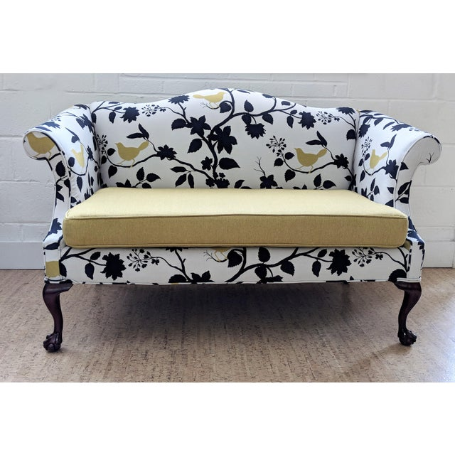 Antique Queen Anne Sofa With Ball and Claw Feet - Restored For Sale - Image 11 of 11