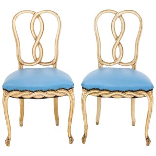Loop Back Rococo-Style Side Chairs - A Pair