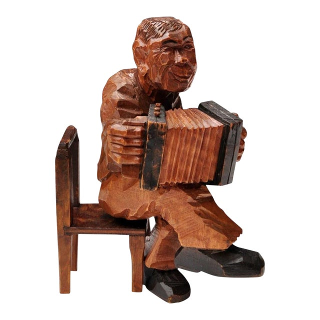 Accordion Player in German Expressionist Style For Sale