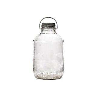 Rustic Zinc Lid Glass Utility Jar