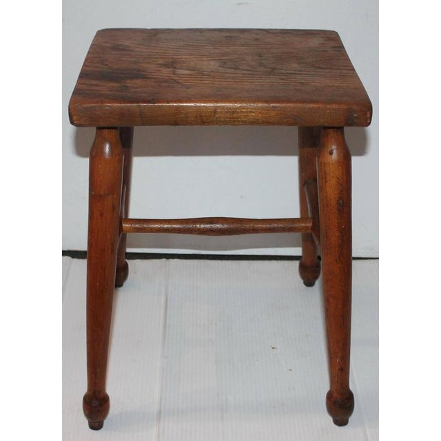 19th Century New England Pine Stool - Image 4 of 6