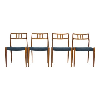 Niels O. Møller Teak Model 79 Dining Chairs - Set of 4 For Sale