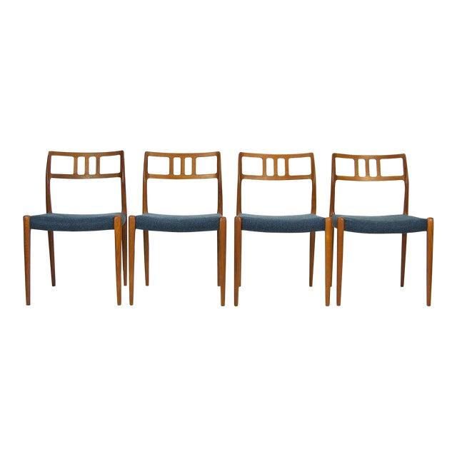 Niels O. Møller Teak Model 79 Dining Chairs - Set of 4 For Sale