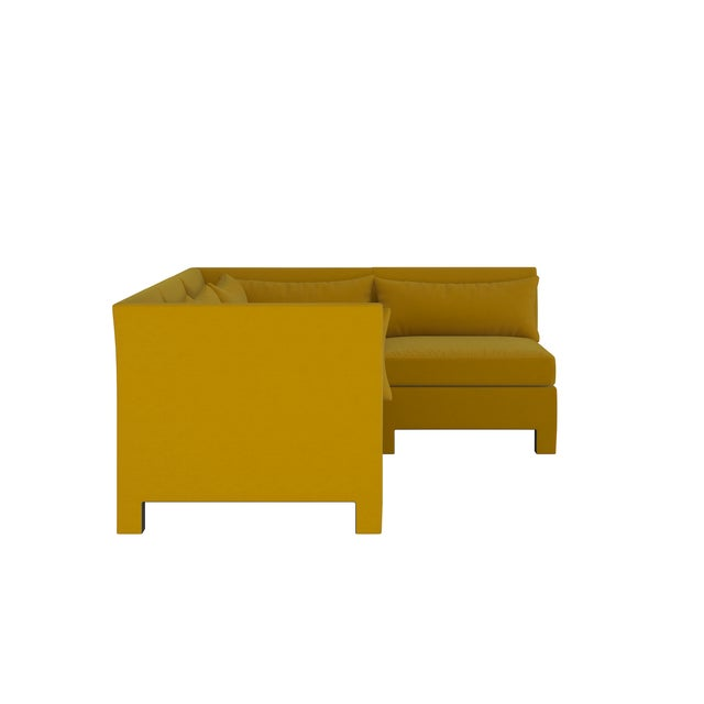 Transitional 4 Piece Sectional , Monaco Citronella For Sale - Image 3 of 9