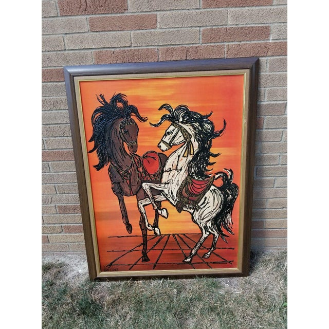 Original Turner Wall Accessory Lee Burr Carousel Horse Painting For Sale - Image 9 of 9