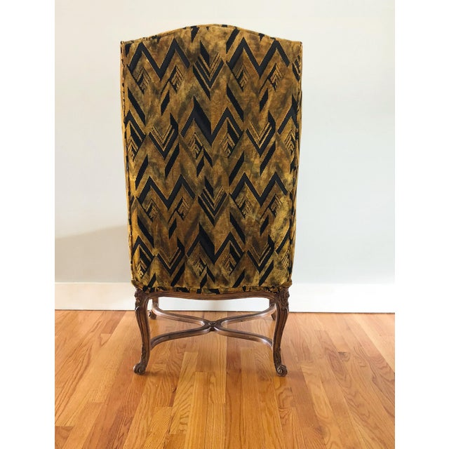 Chevron Wingback Accent Arm Chair - Image 4 of 11
